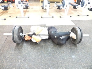 Sometimes it is hard to put the barbell away! # Barbell addiction! ; )
