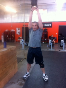 James was the first to toss around KB Josh! 72lbs. Thank you for the going away gift Josh! you rock!